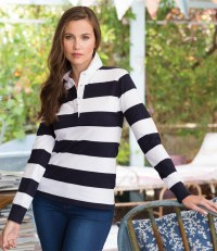 Ladies Striped Rugby Shirt
