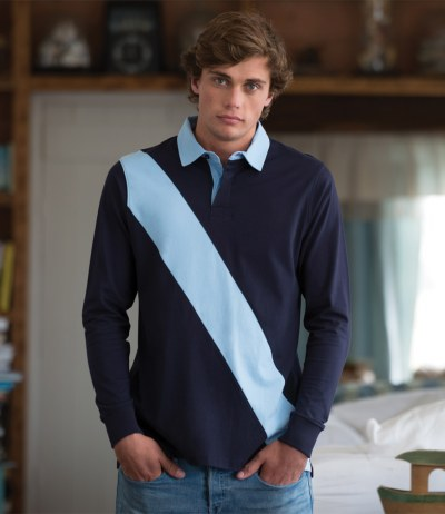 Diagonal Stripe House Rugby Shirt
