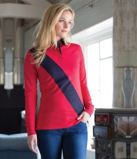 Ladies Diagonal Stripe House Rugby Shirt