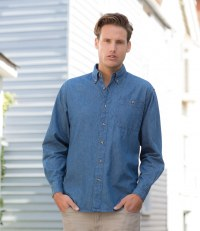 Long Sleeve Lightweight Denim Shirt