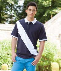 Diagonal Stripe House Cotton Piqué Polo Shirt