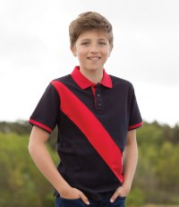 Kids Diagonal Stripe House Polo Shirt