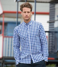 Long Sleeve Checked Cotton Shirt