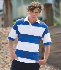 Short Sleeve Sewn Stripe Rugby Shirt
