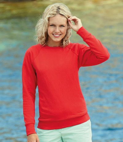 Lady Fit Lightweight Raglan Sweatshirt