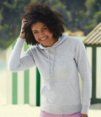 Lady Fit Lightweight Hooded Sweatshirt