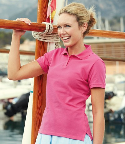 Lady Fit Cotton Piqué Polo Shirt