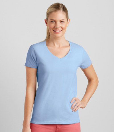 Ladies Premium Cotton V Neck T-Shirt