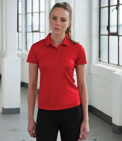 Just Cool Girlie Wicking Polo Shirt