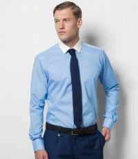 Long Sleeve Contrast Collar Business Shirt