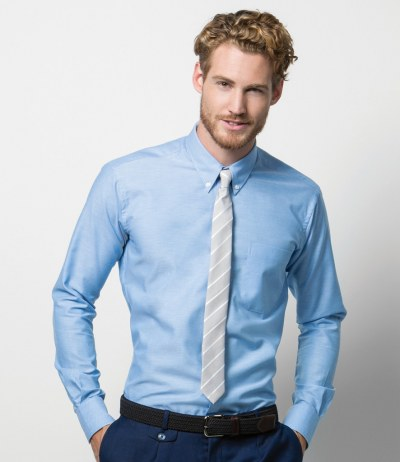 Long Sleeve Slim Fit Workwear Oxford Shirt