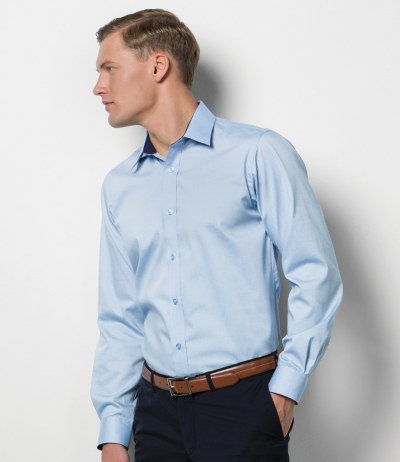Long Sleeve Contrast Premium Oxford Shirt
