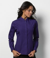 Ladies Long Sleeve Mandarin Collar Shirt