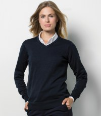 Ladies Arundel Cotton Acrylic V Neck Sweater