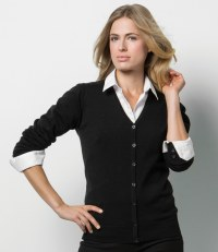 Ladies Arundel Cotton Acrylic V Neck Cardigan