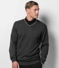 Contrast Arundel V Neck Sweater