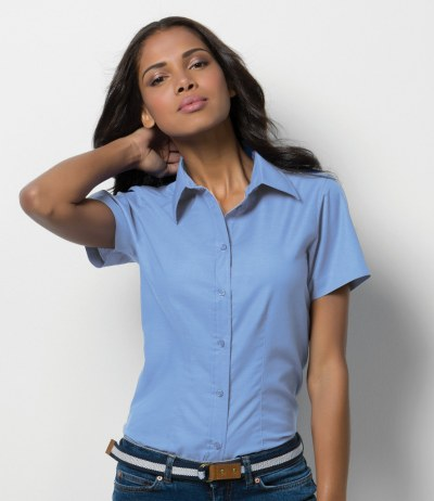 Ladies Short Sleeve Workwear Oxford Shirt