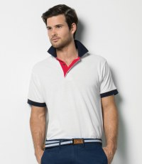 Contrast Poly/Cotton Piqué Polo Shirt
