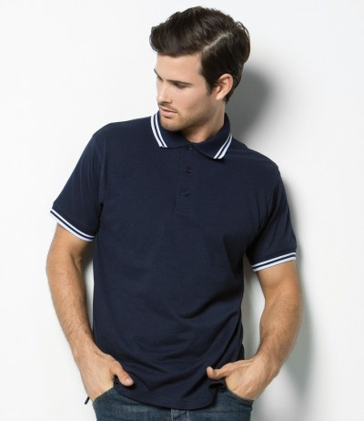 Contrast Tipped Poly/Cotton Piqué Polo Shirt