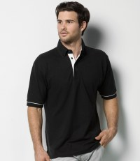 Button Down Collar Contrast Piqué Polo Shirt