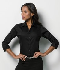 Ladies 3/4 Sleeve Corporate Oxford Shirt