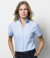 Ladies Pinstripe Short Sleeve Shirt