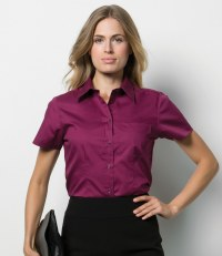 Ladies Short Sleeve Corporate Oxford Shirt with Pocket