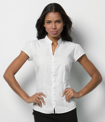 Ladies Cap Sleeve V Neck Continental Blouse