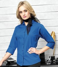 Ladies 3/4 Sleeve Poplin Shirt