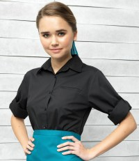 Ladies 'Roll Sleeve' Poplin Shirt