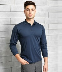 Long Sleeve Coolchecker® Piqué Polo Shirt