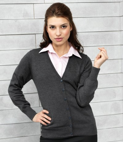 Ladies Cotton Acrylic Cardigan