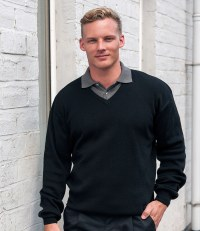 Acrylic/Wool V Neck Sweater