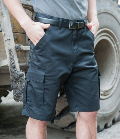 Poly/Cotton Cargo Shorts