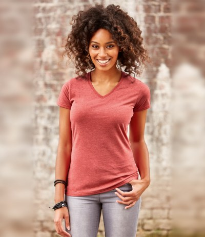 Ladies V Neck HD T-Shirt