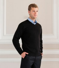 Cotton Acrylic V Neck Sweater