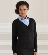 Ladies Cotton Acrylic V Neck Cardigan