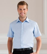 Short Sleeve Tailored Oxford Shirt