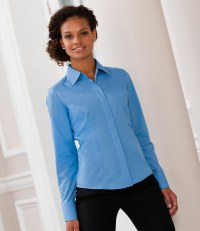 Ladies Long Sleeve Fitted Poplin Shirt