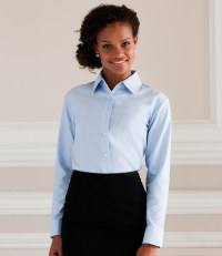Ladies Long Sleeve Easy Care Oxford Shirt