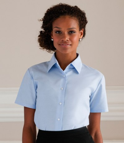 Ladies Short Sleeve Easy Care Oxford Shirt