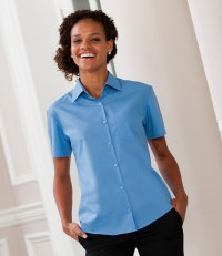 Ladies Short Sleeve Easy Care Poplin Shirt