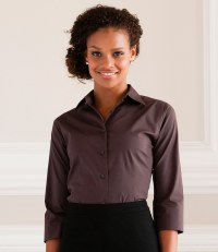 Ladies 3/4 Sleeve Easy Care Fitted Shirt