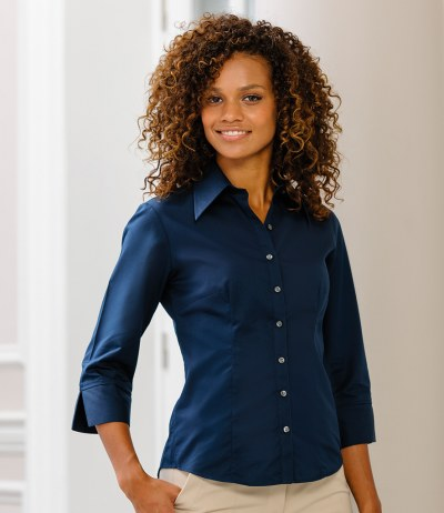 Ladies 3/4 Sleeve Tencel® Fitted Shirt