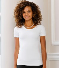 Ladies Short Sleeve Stretch Top
