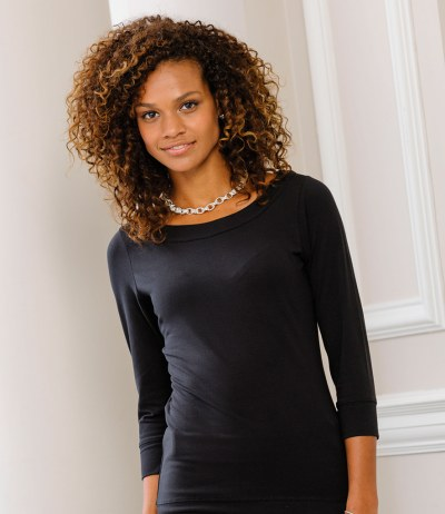 Ladies 3/4 Sleeve Stretch Top