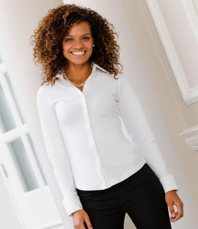 Ladies Long Sleeve Stretch Top