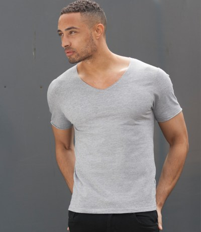 Wide V Neck T-Shirt