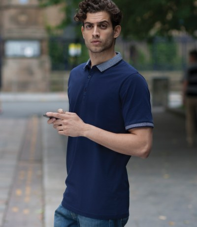 Contrast Fashion Jersey Polo