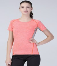 Ladies Fit Tech Panel Marl Shirt